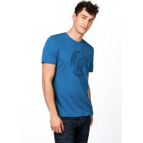 super.natural M's Graphic T-Shirt Vallarta Blue/Navy Blazer Planet B